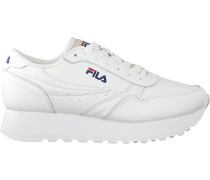 White Fila Shoe Orbit Zeppa L Wmn
