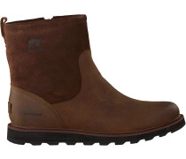 Braune Sorel Ankle Boots Madson Zip Wp