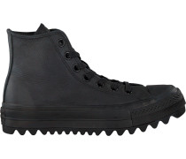 Schwarze Converse Sneaker Ctas Lift Ripple HI
