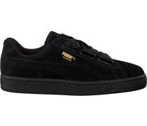 Schwarze Puma Sneaker Suede Heart Satin II
