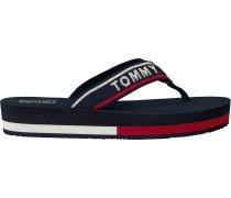 Blue Tommy Hilfiger Shoe Tommy Jeans Mid Beach Sandal