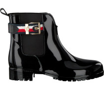 Schwarze Stiefeletten Corporate Belt Rain Boot