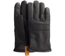 Schwarze Handschuhe Casual Leather Glove With Pull