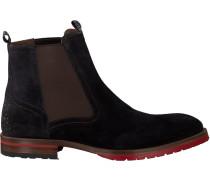 Blaue Floris Van Bommel Chelsea Boots 10976