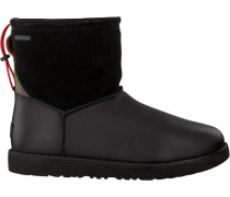 Schwarze UGG Ankle Boots Classic Toggle Waterproof