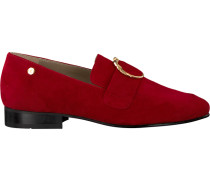 Rote Loafer Lola Loafer Suede Monkey Buckl