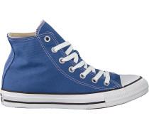 Blaue Converse Sneaker Chuck Taylor All Star Hi Dames