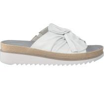 Weiße Gabor Pantolette 729