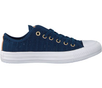 Blaue Converse Sneaker Ctas OX Navy/tan/white