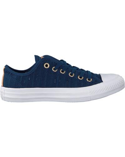 Blaue Converse Sneaker Ctas OX Navy/tan/white
