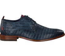 Blaue Rehab Business Schuhe Greg Snake Stripes