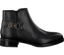 Schwarze Stiefeletten TH Buckle Leather Bootie