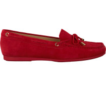 Rote Michael Kors Mokassins Sutton MOC