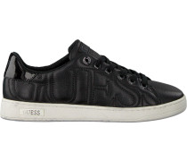 Schwarze Guess Sneaker Flce34 Lea12