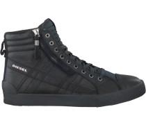 Schwarze Diesel Sneaker D-String Plus