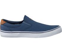 Blaue Polo Ralph Lauren Slip-on Sneaker Thompson