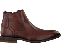 Cognacfarbene Braend Ankle Boots 24703