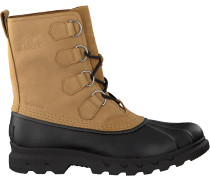 Camelfarbene Sorel Ankle Boots Portzman Classic Waterproof