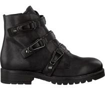 Schwarze Mjus Biker Boots 190223