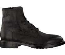 Schwarze Blackstone Schnürschuhe Mm08