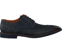 Blaue Van Lier Business Schuhe 6088