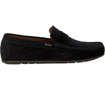 Blaue Mokassins Classic Suede Penny Loafer