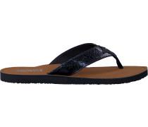 Blaue Tommy Hilfiger Pantolette Glitter Beach Sandal