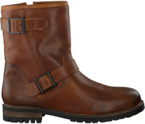 Cognacfarbene Omoda Ankle Boots 80074