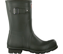 Grüne Hunter Gummistiefel Mens Original Short