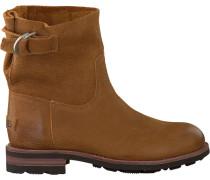 Cognacfarbene Shabbies Ankle Boots 181020071