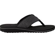 Black shoe Elevated Metallic Beach Sandal