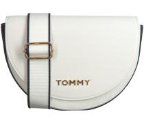 Weiße Tommy Hilfiger Umhängetasche Tommy Staple Saddle
