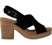 Schwarze Toms Sandalen Ibiza 10013587