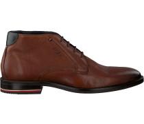 Cognacfarbene Tommy Hilfiger Business Schuhe Signature Hilfiger Boot