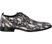 Schwarze Rehab Business Schuhe Greg Snake Verniz