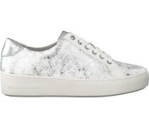Weiße Michael Kors Sneaker Poppy Lace UP