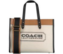 Beige Coach Handtasche Field Tote