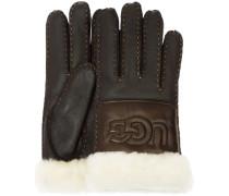 Schwarze UGG Handschuhe Sheepskin Logo Glove