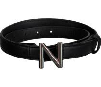 Schwarze Gürtel N-9-878-1805 N Logo Waist Belt