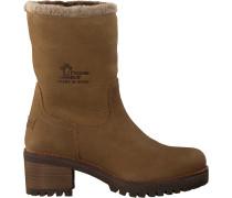 Taupe Panama Jack Ankle Boots Piola B33