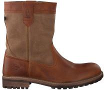 Cognacfarbene Gaastra Ankle Boots Cabin High Fur