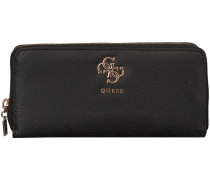 Schwarze Guess Portemonnaie Swvg68 53460