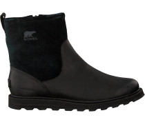 Schwarze Sorel Ankle Boots Madson Zip Wp