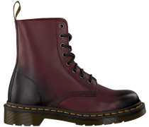 Rote Dr Martens Schnürboots Pascal