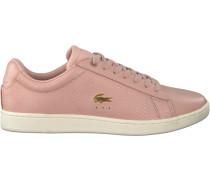 Weiße Lacoste Sneaker Carnaby EVO Dames