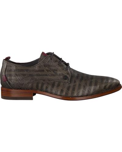 Graue Rehab Business Schuhe Greg Snake Stripes