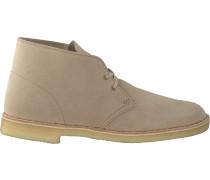 Beige Clarks Schnürschuhe Desert Boot Men
