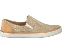 Goldfarbene Slip-on Sneaker Adley Perf Stardust