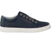 Blaue Sneaker Iconic Metallic Elastic Sneake