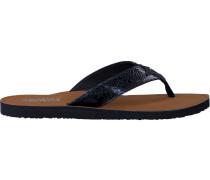 Blaue Pantolette Glitter Beach Sandal
